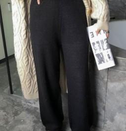 Dior\迪奥麻花收口阔腿裤\深黑色