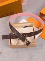LV/路易威登 INITIALES 30mm皮带/粉色/黑色/绿色/蓝色