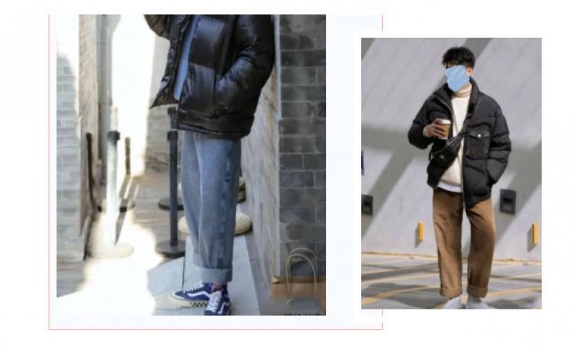 4套男生冬天保暖棉服时尚搭配方案
