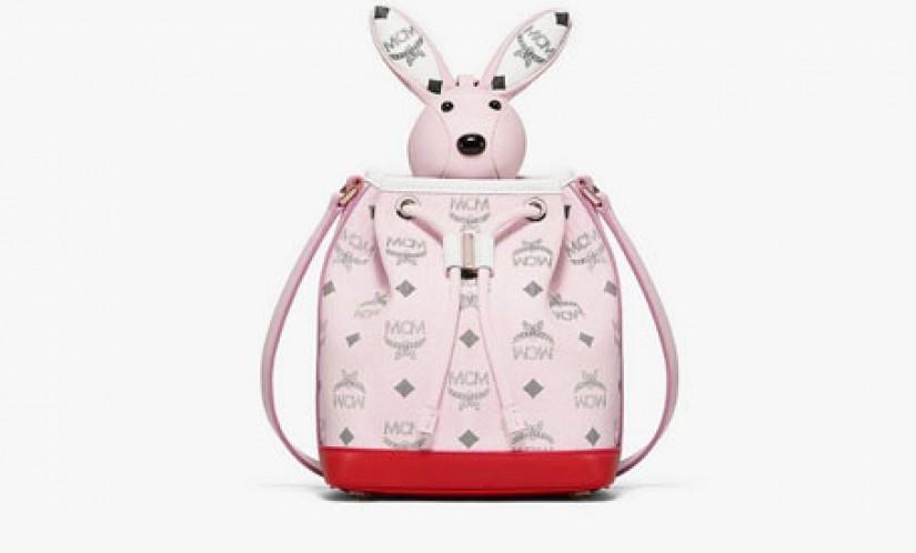 高仿MCM包包 MCM动物园系列拼接兔子水桶包