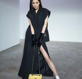 高仿GUCCI包包 杨幂时尚COSMO2020年5月刊同款黄色GUCCI包包
