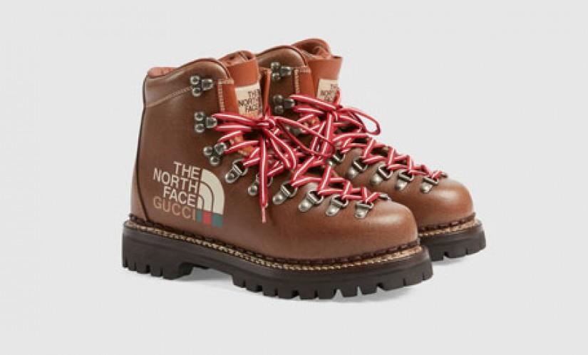 高仿Gucci鞋子 The North Face北面 x Gucci古驰联名踝靴女鞋