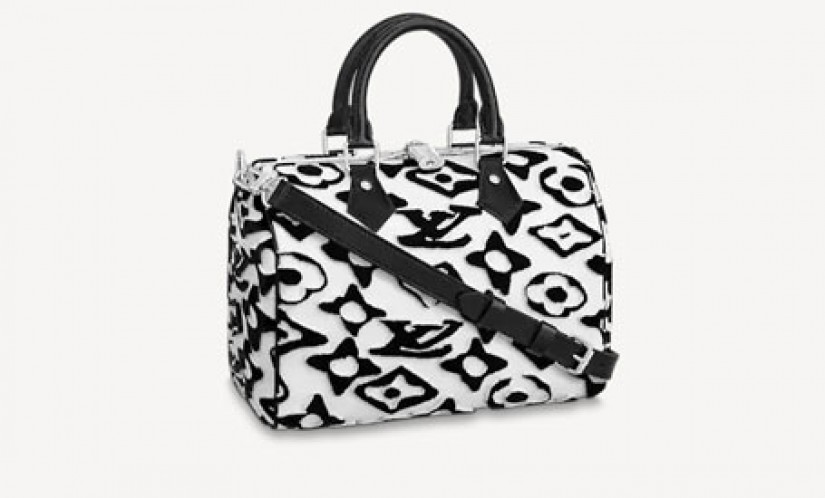 LV高仿包包 a货包包 LV x UF联名SPEEDY BANDOULIÈRE 25手袋 枕头包
