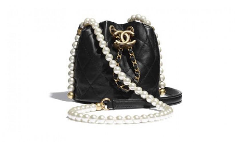 Chanel高仿包包 香奈儿a货包包 香奈儿珍珠链条迷你水桶抽绳包
