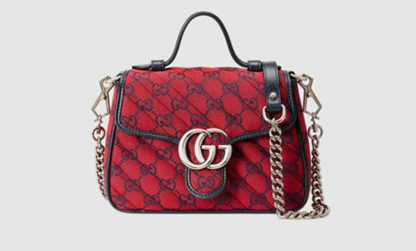 Gucci高仿包包 古驰a货包包 520特别新款GG Marmont迷你链条手提包