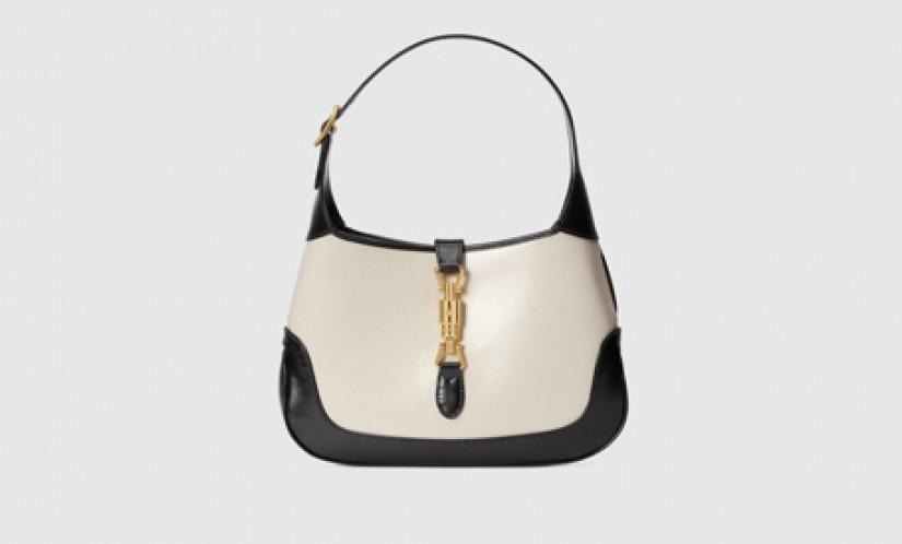 Gucci高仿包包 古驰a货包包 Jackie 1961系列新款黑白配小号肩背包