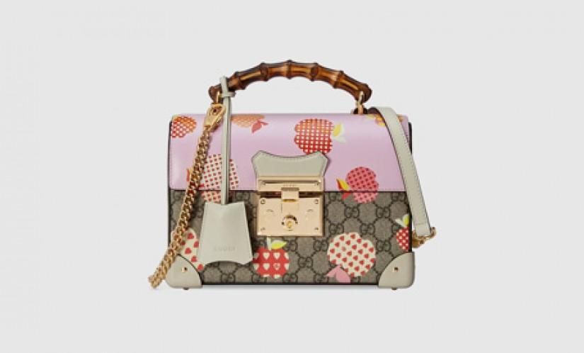 Gucci高仿包包 古驰a货包包 Padlock系列心苹果图案手袋 挂锁包