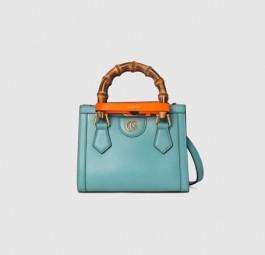 Gucci高仿包包 古驰a货包包 Gucci2021新款Diana竹节迷你托特包