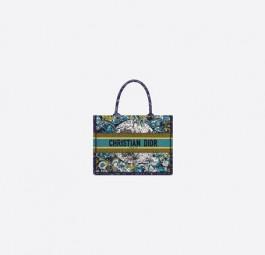 Dior高仿包包 迪奥a货包包 蓝色星座图案刺绣Dior托特包