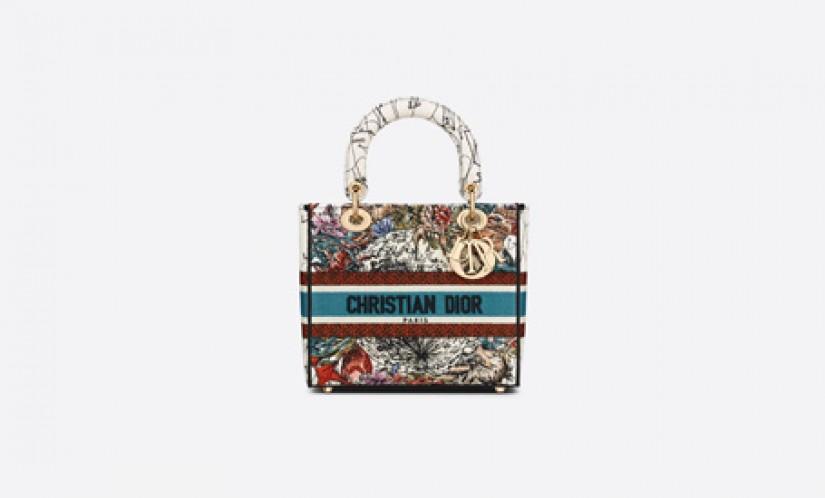 Dior高仿包包 迪奥a货包包 星座图案刺绣Dior D-LITE 手袋戴妃包