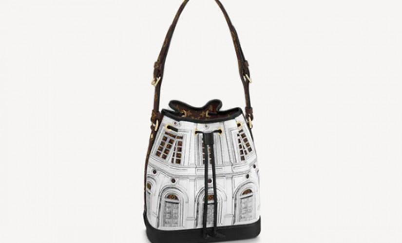 LV高仿包包 路易威登a货包包 帕拉第奥式宫殿图案 NOÉ 手袋 水桶包