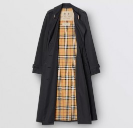 Burberry高仿大衣 巴宝莉a货大衣 Heritage系列切尔西版长款Trench风衣