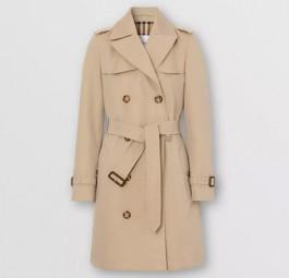 Burberry高仿大衣 巴宝莉a货大衣 Heritage系列伊斯灵顿短款Trench风衣