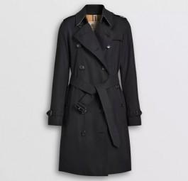 Burberry高仿大衣 巴宝莉a货大衣 Heritage系列肯辛顿中长款Trench风衣