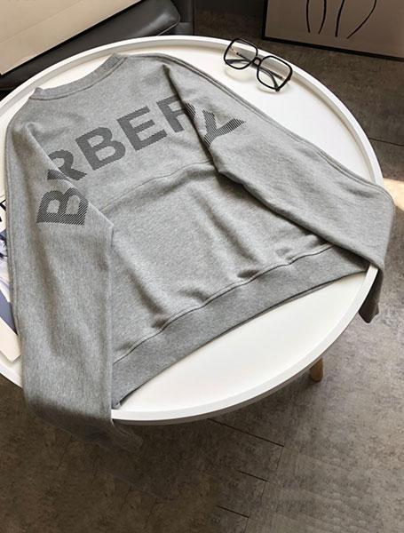 Burberry巴宝莉童装改装版后背LOGO字母落肩袖卫衣