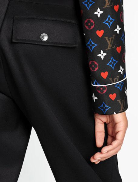 LV路易威登Game on系列纸牌口袋长袖睡衣