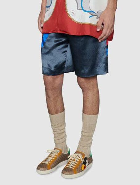 Gucci古驰Disney联名Ace系列彩色印花男士GG运动鞋