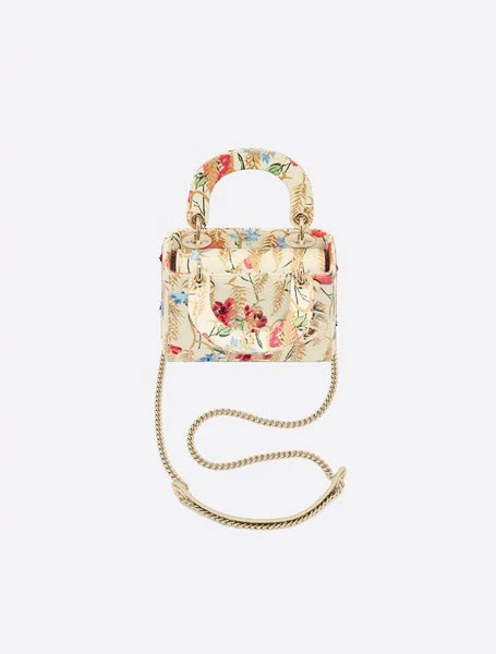 Dior迪奥中国新年限定包包白色牛皮革迷你 LADY DIOR 手袋