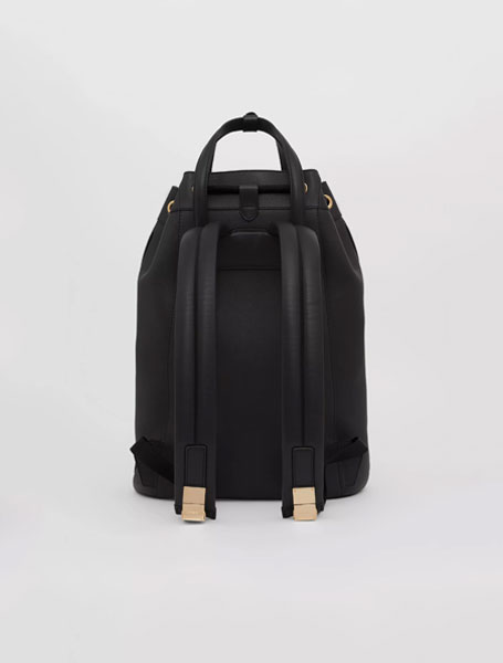 高仿burberry包包 巴宝莉a货包今日上新 黑色抽绳水桶双肩包