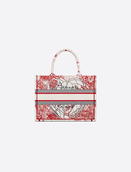 Dior高仿包包 迪奥a货包包 D-Royaume d'Amour系列图案刺绣托特包