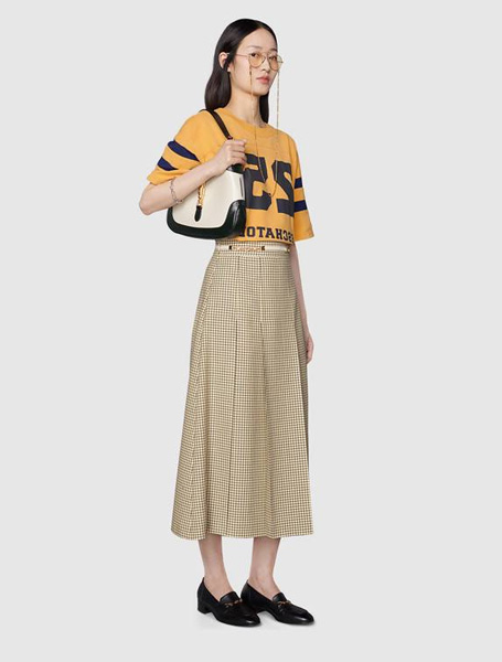 Gucci高仿包包 古驰a货包包 Jackie 1961系列黑白配肩背包