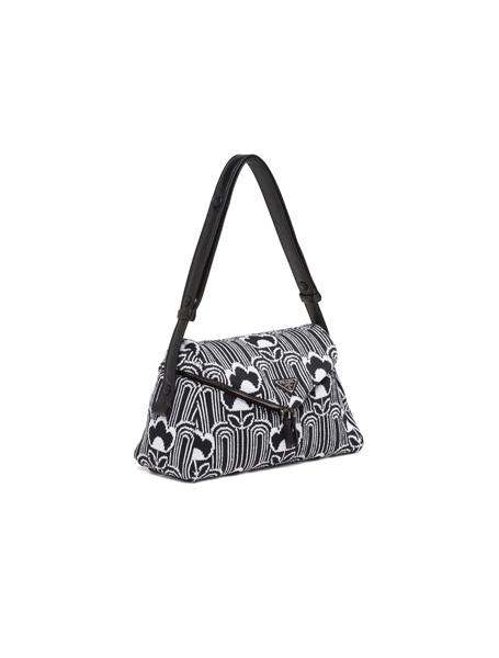 Prada高仿包包 普拉达a货包包 Signaux 复古几何提花图案单肩包