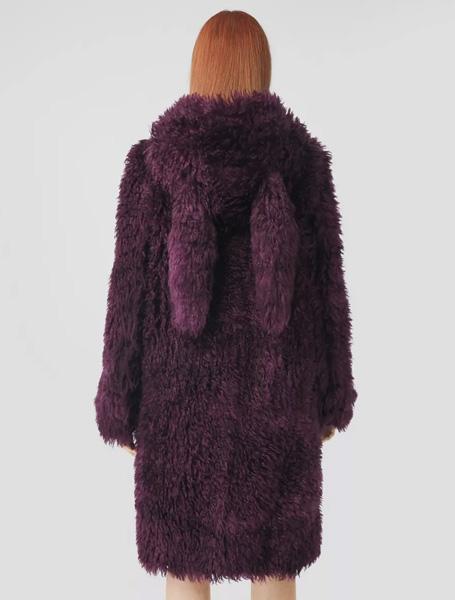 Burberry高仿大衣 巴宝莉a货大衣 连帽野兔耳牛角扣大衣