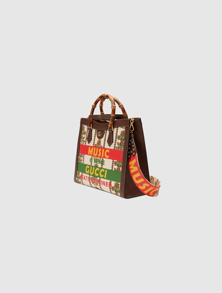 Gucci高仿包包 古驰a货包包 Gucci100特别系列手袋Diana竹节托特包