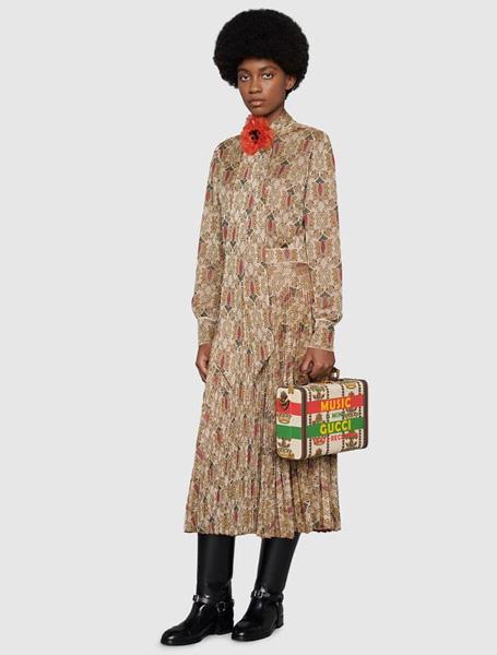 Gucci高仿包包 古驰a货包包 Gucci 100特别系列王冠提花化妆包